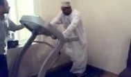 Arab Man on Treadmill