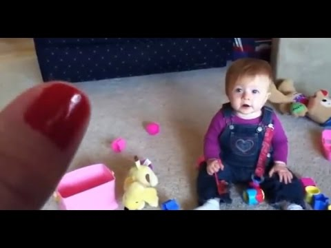 She Holds Her Finger Up To Her Baby. What Happens Next? HILARIOUS!